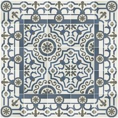 Merola Tile Hidraulico Ducados 9-1/2 in. x 9-1/2 in. Porcelain Floor and Wall Tile (10.76 sq. ft. / case)-FCD10HDU - The Home Depot