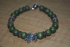 Lava Bead Turtle Bracelets - Green