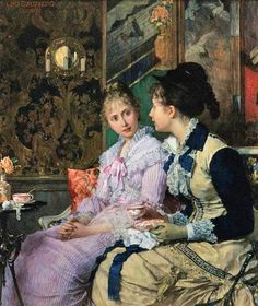 Joseph Scheurenberg (1846-1914) - Ladies Taking Tea