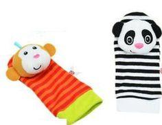 Cute Baby bell sock Lovely Infant Kids cartoon animal pattern Foot Socks Rattles finders Glove Toys Developmental Stuffed &Plush
