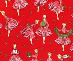 Holiday Hostess Christmas Cotton Fabric by Michael Miller, Fancy Moon