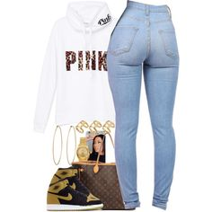 Untitled #1369 by power-beauty on Polyvore featuring polyvore, fashion, style, Rolex, ASOS, NIKE, Victoria's Secret PINK, Louis Vuitton and Social Anarchy