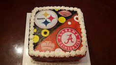 Steelers and Alabama Crimson Tide cake