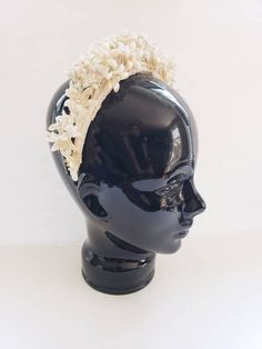 1930s 1920s Wax Floral Bridal Crown Tiara / Antique Wedding Headband Headpiece Vintage Bride Romantic Shabby Chic Flower Wreath / Arla by RareJuleVintage on Etsy