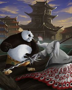 Po vs Lord Shen by karuma9.deviantart.com on @deviantART
