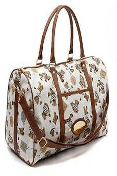 New Mens Womens Little Bear Boston Traveling Bag Duffle Gym Bag Suitcase Duffle Bag Patterns, Leather Overnight Bag, Canvas Travel Bag, Carpet Bag, Travel Bags For Women, Large Bags, Buses, Airplanes, Gym Bag
