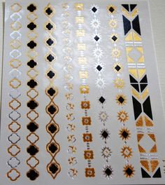 Metallic Temporary Tattoo - Eight Bands