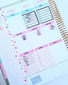 Planner Stickers created by contributor Jennifer Reyes using the Sweet Stamp Shop Plan To Clean stamp set