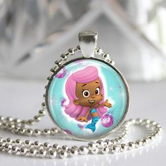 Bubble Guppies Pendant Necklace Birthday by ArtistryAtHome