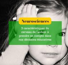Utiliser les connaissances sur le cerveau de l'enfant pour cheminer vers une éducation positive et bienveillante : 3 caractéristiques du cerveau à prendre en compte dans nos décisions éducatives Education Positive, Kids Education, Formation Continue, Trouble, Kids Corner, Positive Attitude, Montessori, Coaching, Communication
