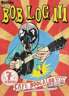 Bob Log III. Martes 7 de Febrero de 2017, 21:30h. Boogaloo Café Concierto, Cáceres (España) http://www.pinnataproductions.com