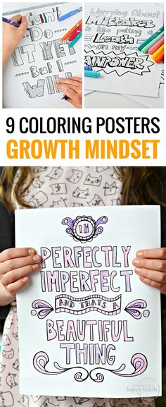 When your kid struggles with making mistakes, giving up, and talking negative, he may be stuck in a fixed mindset. These 9 phrases will shift your child to a growth mindset and set him up for success. These growth mindset quotes for kids are so powerful! Quotes For Students, Quotes For Kids, Family Coloring Pages, Growth Mindset Posters, Growth Mindset For Kids, Growth Mindset Activities, Keep Trying, Humor, Islands