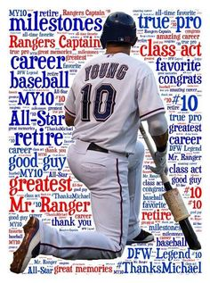 1/31/14 Michael Young Retires As A Texas Ranger ¥One Class Act¥