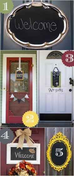 Chalkboard font door decor ideas