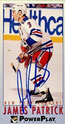 James Patrick New York Rangers Signed 1993-1994 Power Play Card # 164 SL COA . $6.00. New York Rangers DefenseJames PatrickHand Signed 1993-1994 FleerPower Play Card# 164.GREAT AUTHENTIC HOCKEY COLLECTIBLE!!AUTOGRAPH AUTHENTICATED BY SPORTS LOT AUTHENTICATIONS WITH A SPORTS LOT NUMBERED AUTHENTIC STICKER ON ITEM.SL SOA # 12999ITEM PICTURED IS ACTUAL ITEM BUYER WILL RECEIVE.