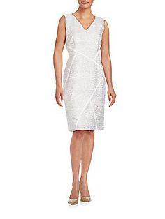 Lafayette 148 New York Kiersten Jacquard Cotton & Silk Dress -