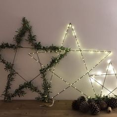 Estrella grande iluminada Christmas Star, Christmas Ideas, Christmas Crafts, Christmas Decorations, Holiday Decor, Diamond Decorations, Navidad Diy, Luz Led, Scandinavian Christmas