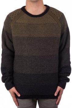 Anerkjendt - Tjalfe men's knitted jumper in green. #Ombre #fade #AW13