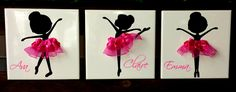3 adorable ballerina silhouette poses to choose from. Perfect gift for your little ballerina! Great gift idea for dance instructors and teachers. Add a name