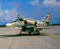 """USMC A-4M Skyhawk of VMA-223 """"Bulldogs"""" Attack Squadron."""