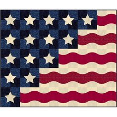 Patriotic Waves Quilt Kit from American Quilter's Society