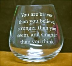 Custom engravings - wine glass with an engraved quote!