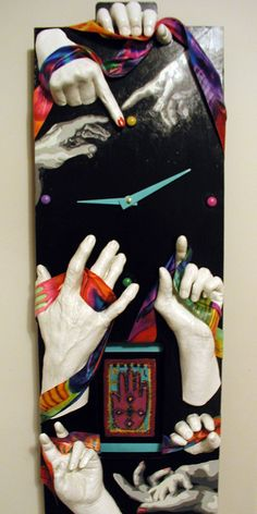 "Clock For Art Auction...""The Hands of Time"""