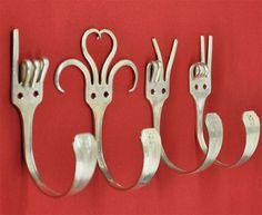 Roliga krokar med gamla gafflar