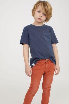T-shirt with Chest Pocket - Dark blue - Kids Boys Haircuts Long Hair, Little Boy Haircuts, Cute Hairstyles For Kids, Boy Hairstyles, Toddler Outfits, Boy Outfits, Boys Clothes Online, Clothes Sale, Kids Clothing