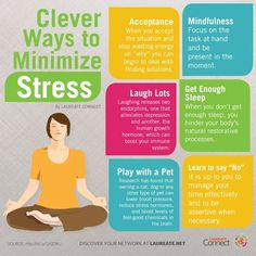 Here are 6 clever ways to minimize stress. What other tips do you have to get rid of #stress ? #Infographic