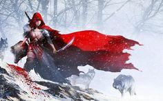Image detail for -hunter wolf animated cartoonish fantasy art warriors red riding hood ...