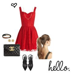 """""""Untitled #149"""" by coolerthanyouooh ❤ liked on Polyvore featuring Chi Chi, Chanel, Burberry, David Yurman and Valentino"""