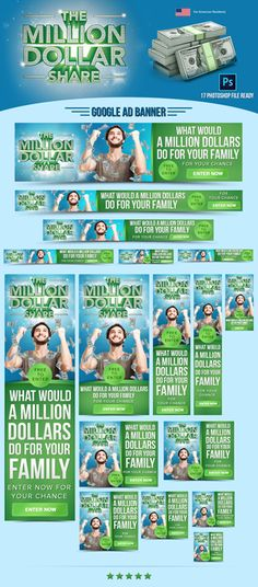 Create a set of Web Banners giving away $1,000,000 - Inspirational, Emotional, and Engaging! by IndyDesign7