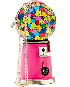 KITCHI BUBBLE GUM MACHINE CROSSBODY PINK accessories handbags day no sub class