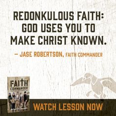 """""""Redonkulous faith can be as tiny as a mustard seed, but it's as powerful as a mighty wind. It trusts that God is our defender, deliverer & provider. Actions like forgiveness & kindness & obedience flow naturally from redonkulous faith...  Apparently, the size of your faith is less important than its quality & what you're doing with it."""" ~Korie Robertson  #FaithCommander #DuckDynasty"""