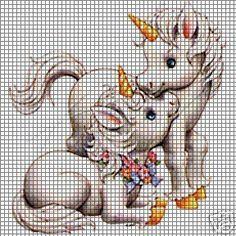 3 Simple Afghan Crochet Patterns Remain the Best Choice Unicorn Cross Stitch Pattern, Cute Cross Stitch, Cross Stitch Alphabet, Cross Stitch Charts, Cross Stitch Patterns, Afghan Crochet Patterns, Crochet Chart, Cross Stitching, Cross Stitch Embroidery