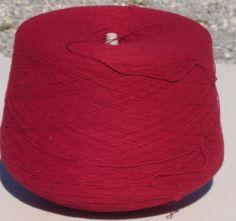 Cardinal Red Machine Knitting Yarn, Cardinal Red Knitting Yarn, Cardinal Red Cone Yarn by stephaniesyarn on Etsy