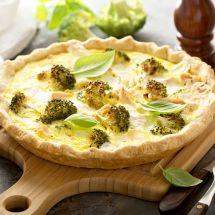 Ma recette du jour : Tarte au saumon, brocolis et chèvre sur Recettes.net
