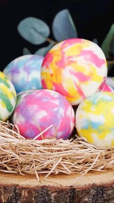 marble chocolate Easter eggs filled with candy