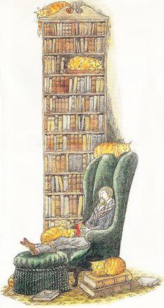 Library. (Edward Gorey)