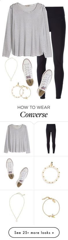 Never take advantage of life, it can be takin away from you in a blink of an eye by keileeen on Polyvore featuring NIKE, HM, Converse, Kendra Scott and Kate Spade