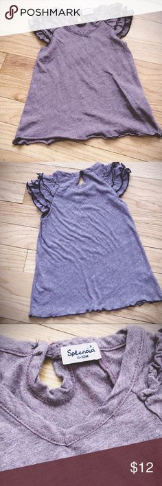 Splendid 6-12 month Top Vintage purple ruffle sleeve Splendid baby top  6 to 12 months Splendid Shirts & Tops Tank Tops