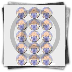 Free Angel Baby Printable Bottle Cap Images Collage Sheet