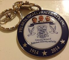 Phi Beta Sigma Centennial key chain