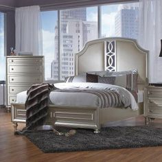 Avalon Furniture Regency Park Bed, Size: Queen - DICS260-1