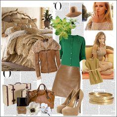 """warm spring camel"" by syspi on Polyvore"
