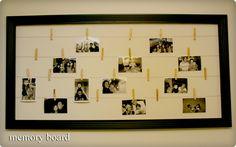 DIY - Framed photo board