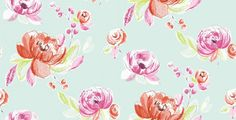 Annabelle (11071) - Albany Wallpapers - Annabelle is a fun, crayon-drawn floral design. Shown here in red, pink and blue - more colours are available. Please request a sample for true colour match.