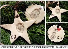 Children's Fingerprint Ornaments from Clay