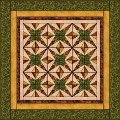 Toothed Star Quilt has potential in red, white and blue prints and solids